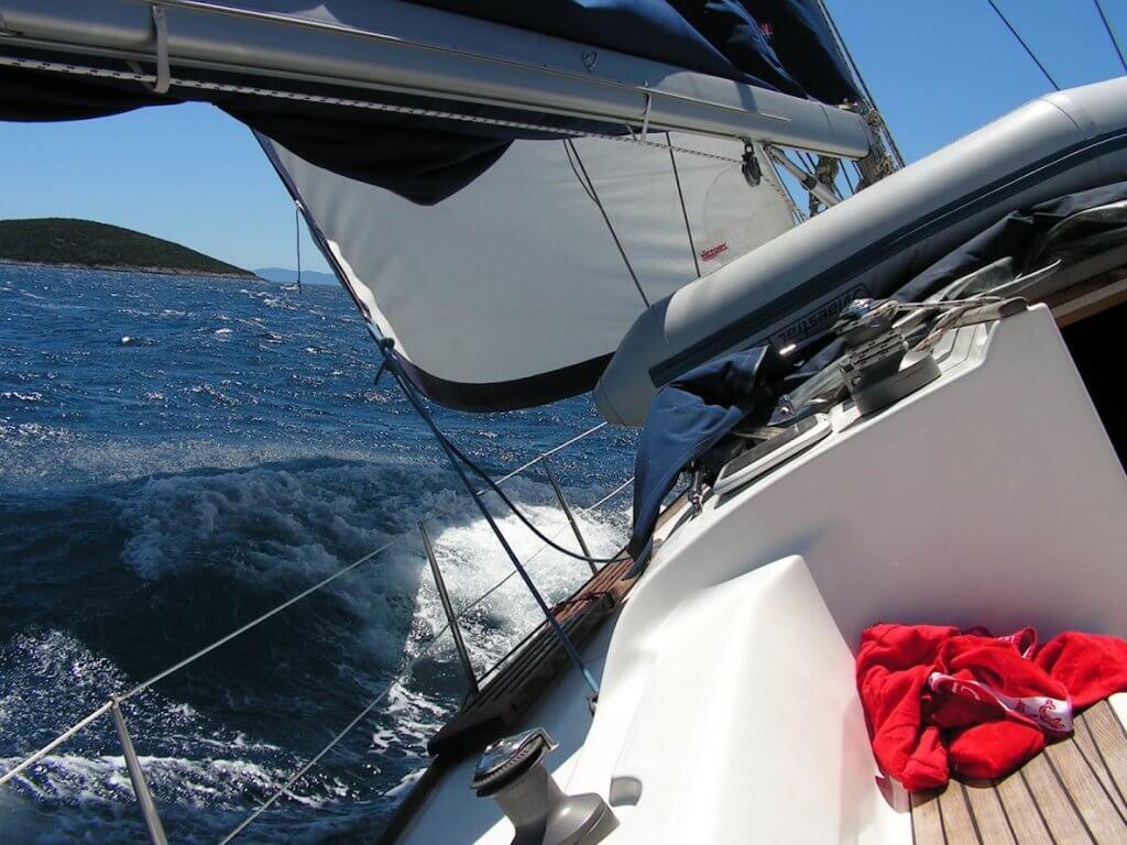 Near Split - Sailing route Croatia